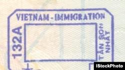 越南簽證蓋章(資料圖片)