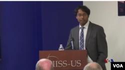 總部設在倫敦的國際戰略研究所(IISS)3月1日星期二在華盛頓舉辦《年度全球軍事報告》美國發表會。報告作者之一拉仁德蘭。