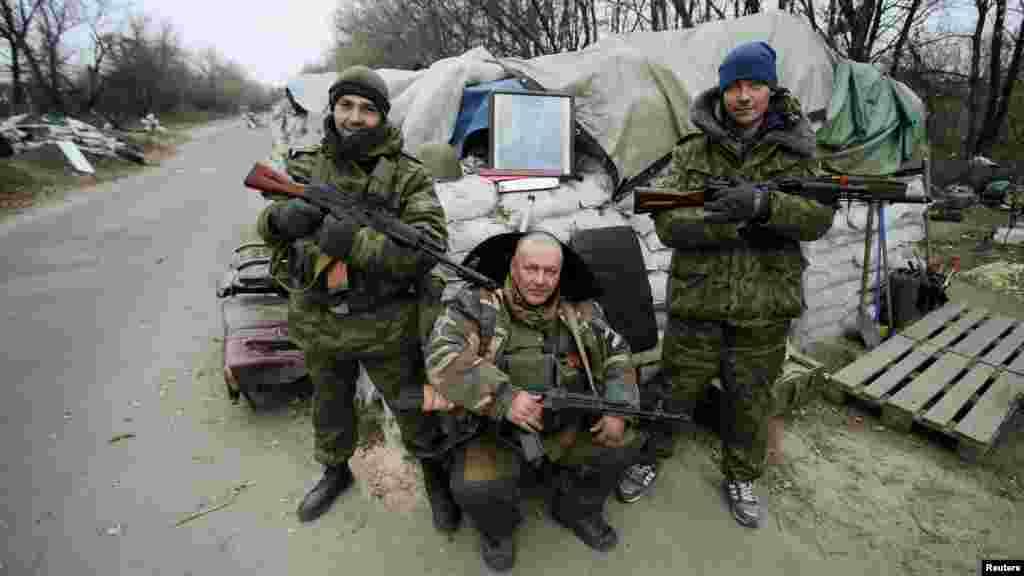 Sojojin Rasha kusa Donetsk a Ukraine, Nuwamba 18, 2014.