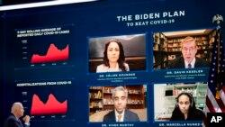 Demokratski predsednički kandidat Džo Bajden na virtuelnom mitingu o javnom zdravstvu u Vilimingtonu u Delaveru, 28. oktobra 2020.