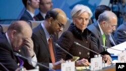 Direktorka MMF-a Kristin Lagard na skupu finansijskih ministara i guvernera centralnih banaka Grupe 20