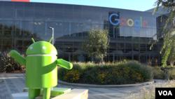 Google menyebut kampusnya sebagai Googleplex, gabungan antara Google dan complex (VOA/Vina).
