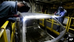 지난해 3월 미국 미주리 주 클레이코모의 포드 자동차 조립 공장. (자료사진)