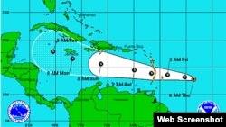 La depresión tropical podría transformarse en una tormenta tropical.