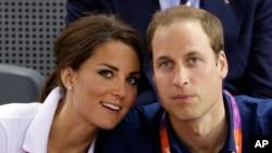 英國威廉王子和凱特王妃(資料照片)