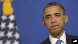 미국 바락 오바마 대통령이 지난해 3월 한국에서 가진 기자회견에서 북한 관련 질문에 답하고 있다. (자료사진)