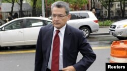 Rajat Gupta, a former Goldman Sachs Group Inc. and Procter & Gamble board member, arrives at the Manhattan Federal Court in New York May 22, 2012.