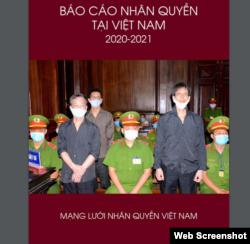 Trang bìa Báo cáo Nhân quyền tại Việt Nam 2020-2021 của Mạng lưới Nhân quyền Việt Nam. Photo Mạng lưới Nhân quyền Việt Nam.