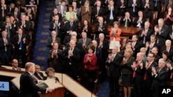 川普星期二晚對國會的第一次講話。