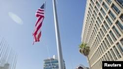 Ibendera ry'Amerika muri Cuba (8.14.2015)