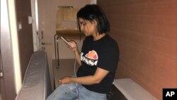 Rahaf Mohammed Alqunun u hotelskoj sobi na aerodromu u Bangkoku