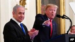 Rais wa Marekani Donald Trump na Waziri Mkuu wa Israeli Benjamin Netanyahu