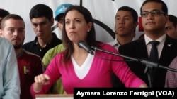 Deposed Venezuelan Congresswoman Maria Corina Machado, Dec 4, 2014. (Aymara Lorenzo Ferrigni/VOA)