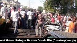 Hoton da Wakilin Sashen Hausa Haruna Dauda Biu ya aiko daga Maiduguri bayan harin da aka kai ranar talata 14 ga watan janairu