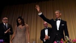 Obama në rolin e humoristit