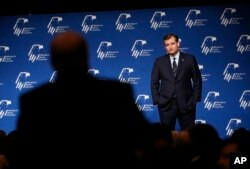 Republican presidential candidate Sen. Ted Cruz of Texas takes a question from the audience at the Republican Jewish Coalition spring leadership meeting, in Las Vegas, April 9, 2016.