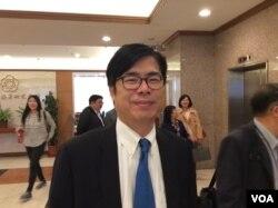 台湾民进党立委陈其迈2017年4月7日在立法院(美国之音申华拍摄)