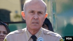 前洛杉矶县警长李贝卡档案照片(美国之音国符拍摄)