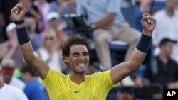 Rafael Nadal se agenció el torneo de tenis de Cincinnati, una copa que se le había negado anteriormente.