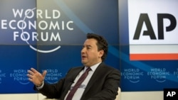Ali Babacan, Turkey's Deputy Prime Minister at the 43rd Annual Meeting of the World Economic Forum, WEF, in Davos, Switzerland, Jan. 25, 2013.