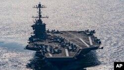 یک سخنگوی ارتش آمریکا گفته بود که ایران در نزدیکی ناو ترومن اقدام به پرتاب موشک کرده است.