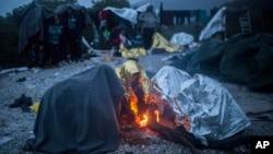 Migranti u mestu Sikaminias na Lezbosu, 22. oktobar 2015.