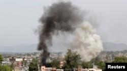 Un ataque de extremistas en un edifico del gobierno provincial en el este de Afganistán causa al menos 10 muertos el domingo, 13 de mayo, de 2018.