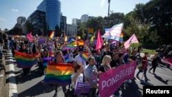 Beogradska Parada ponosa 2014. (REUTERS/Djordje Kojadinovic)