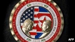 امریکہ اور شمالی کوریا کے سربراہان کی مجوزہ ملاقات سے متعلق جاری کیا گیا یادگاری سکہ