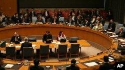 유엔 안전보장이사회 회의장면