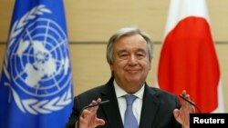 Umunyamabanga mukuru wa ONU, Antonio Guterres.