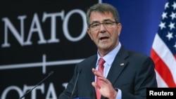 ABD Savunma Bakanı Carter Brüksel'de iki gün süren NATO Savunma Bakanları Toplantısı'nın ardından basın toplantısı düzenledi.