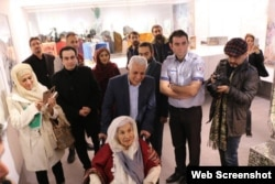 منیر شاهرودی فرمانفرمائیان در مراسم افتتاح تالار دائمی آثارش در مجموعه نگارستان دانشگاه تهران MehrNews