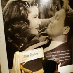 Katharine Hepburn's movie set chair was one of many things sold at Sotheby's in New York during a 2004 auction