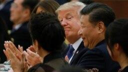 Tổng thống Trump và Chủ tịch Tập Cận Bình tại Bắc Kinh cuối năm 2017.