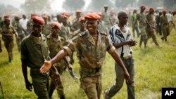 Binh sĩ mới gia nhập lực lượng vũ trang Trung Phi tại Bangui.