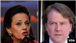 អ្នកស្រី Kathleen McFarland និងលោក Donald McGahn ដែលត្រូវបានតែងតាំងដោយក្រុមងផ្ទេរតំណែងរបស់លោក Trump។