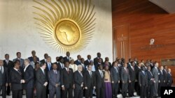 African heads of state at the annual African Union (AU) summit held at the AU headquarters in Addis Ababa, Ethiopia, Jan. 30, 2015.