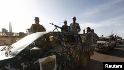 Các thành viên của lực lượng an ninh Libya.