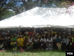 Some of the people who attended Thursday's 21st February Movement mini-carnival in Masvingo. (Photo: Gandri Maramba)
