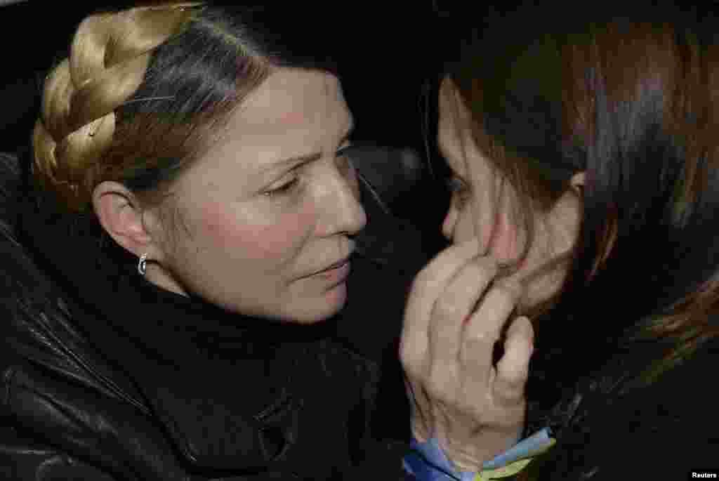 Ukraina muxolifati yetakchisi Yuliya Timoshenko.