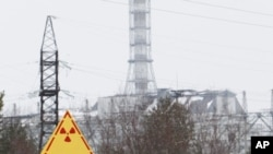 A general view of the sarcophagus covering the damaged fourth reactor at the Chernobyl nuclear power plant February 24, 2011. Belarus, Ukraine and Russia will mark the 25th anniversary of the nuclear reactor explosion in Chernobyl, the place where the wor