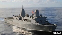 Tàu đổ bộ USS San Antonio đã được điều động đến Ðịa Trung Hải.