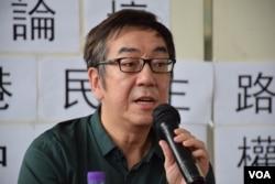 香港時事評論員陶傑表示,港人悼念六四的口號可以與時並進,例如「立足本土、推動中國」。(美國之音湯惠芸攝)