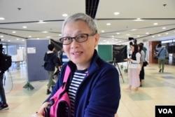 香港市民黃女士。(美國之音湯惠芸攝)