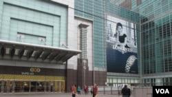 台北101大楼是陆客参访的热门景点(美国之音张永泰拍摄)
