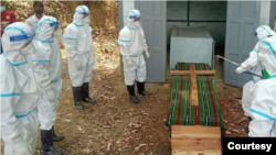 The cremation of a pregnant woman who died of COVID-19 in Chin State's Cikha town