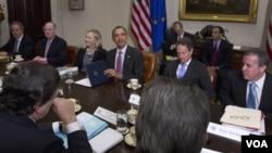 Pertemuan puncak Presiden Obama dan para pemimpin Uni Eropa di Gedung Putih, Washington (28/11).