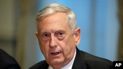 FILE - Defense Secretary Jim Mattis, in Washington.