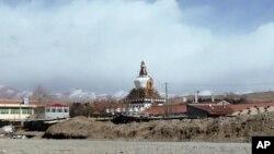 Tu viện Kirti, tu viện Tây Tạng lớn nhất, ở tỉnh Tứ Xuyên của Trung Quốc (ảnh chụp ngày 27/2/2012)